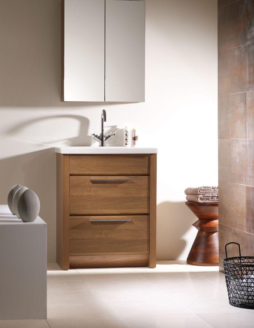 Bathroom sinks and cabinets